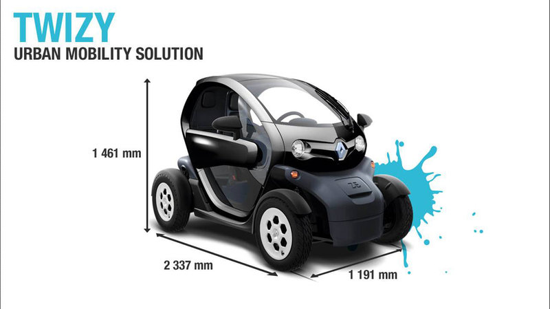 renault twizy urban mobility mini car prices unveiled. Black Bedroom Furniture Sets. Home Design Ideas